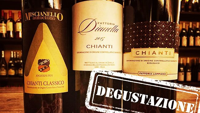 Degustazione di Chianti all'enoteca Giansanti