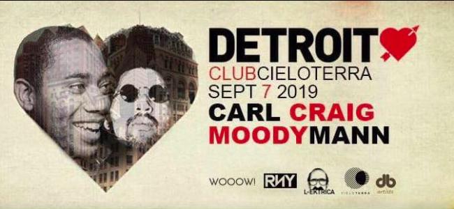 Detroit Love – Carl Craig & Moodymann a Cieloterra