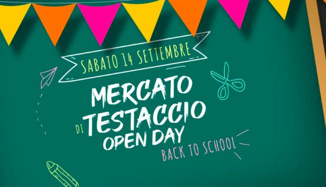 Open day al Mercato Testaccio – Back to school