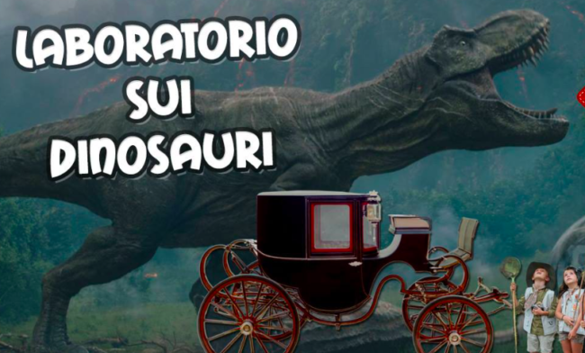 Laboratorio sui dinosauri in museo